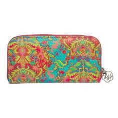 Zip wallet in Indian Summer print