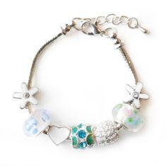 Children's aqua charm bracelet