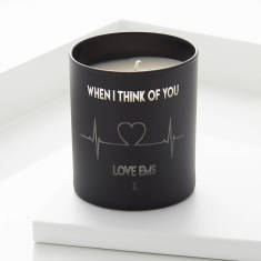 Heartbeat Personalised Candle