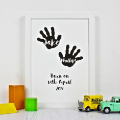 Baby Birth Hand Silhouette Print