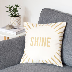 Shine Metallic Cushion Cover