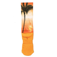 Lafitte printed tropical sunset socks