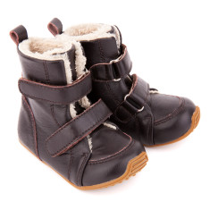 Kids Snug Boots In Chocolate
