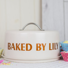 Personalised Dome Cake Tin