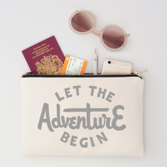 Let The Adventure Begin Travel Pouch
