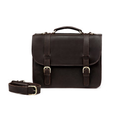 TheCompanion Dark Brown Leather Briefcase