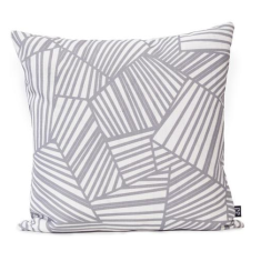 Deco Chrysler Large Cushion Cover in Silver