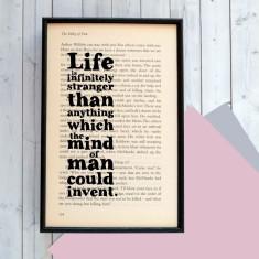Sherlock Holmes life is infinitely stranger... -  book page print