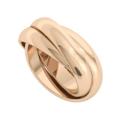 Russian Wedding Ring - Juno - 9ct Rose Gold