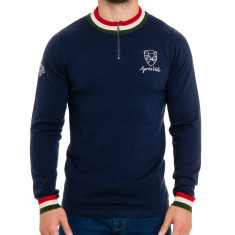 Men's campione wool knit in navy