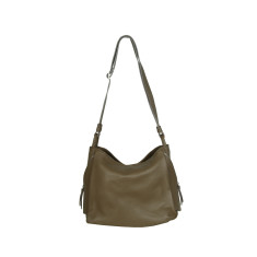 Matilde genuine leather shoulder bag in taupe