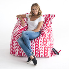Red foliage stripe bean bag cover