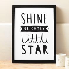 Shine Brightly Little Star Print