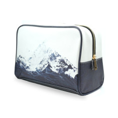 Waves Like Mountains Vegan Leather Large Toiletry Wash Bag
