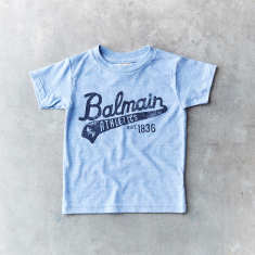 Kids Balmain script vintage t-shirt