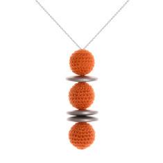 Duchess silver line pendant by Mon Bijou (various colours)