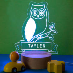 Personalised Owl Children's Night Light