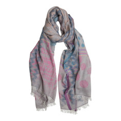 Spot on jacquard cotton scarf
