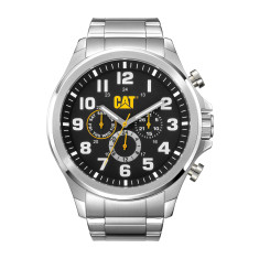CAT Operator series in Stainless Steel with Black Dual-Time face