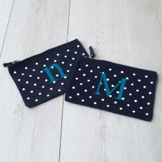 Mum And Me Co Ordinating Polka Dot Alphabet Pouch