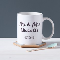Couple's Personalised Mr And Mrs Mug