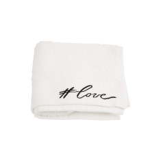 Typography #love Embroidered Hand Towel
