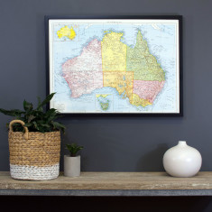 Australia vintage style map pinboard
