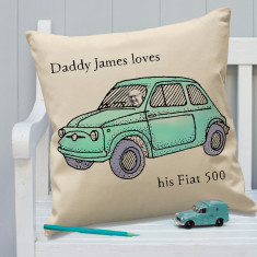 Personalised Colour In Fiat 500 Classic cushion
