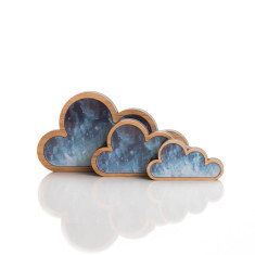 Cloudy cloud art (set of 3)