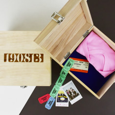 Date Personalised Wooden Memory Keepsake Box