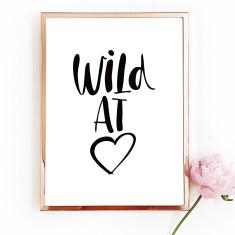 Wild at heart art print (various sizes)