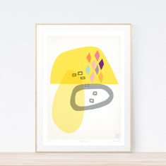 Burnt sugar art print