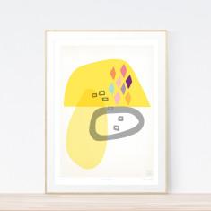 Burnt sugar art print