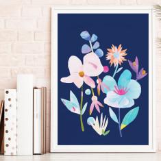 Wildflower On Navy print