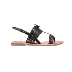 Les Tropeziennes basile French sandals in black