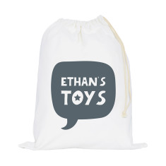 Personalised Speech Bubble Storage Sack