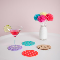 Confetti coasters in cosmopolitan design (set of 4)