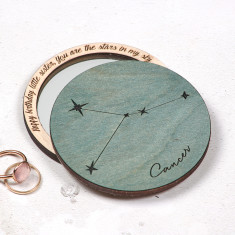 Personalised horoscope pocket mirror