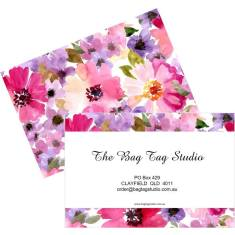 Set of 2 Personalised luggage tags in enchanting floral design