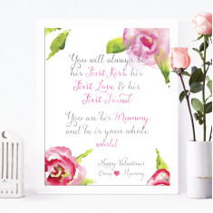 Personalised Valentine's print for mum