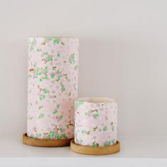 Glass Lantern Pastel Bloom