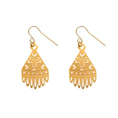 Gold Ariel Earrings