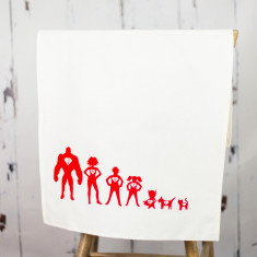 Personalised tea towel superhero print (various designs)