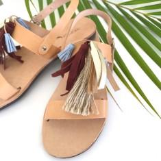 Bordeaux Tassel Sandalaki Shoe