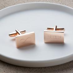 Personalised Rose Gold Infinity Cufflinks