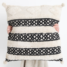 Matisse Tufted Cushion - Natural Pom Pom