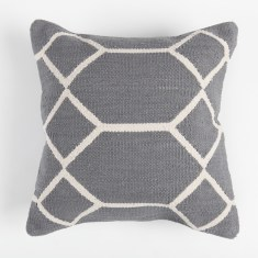 Diamonds galore hand made cotton cushion cover in grey