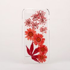 Pressed flower & leaf clear phone case for iPhone or Samsung