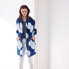 Duster coat in dot print