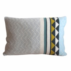 Vilma Cushion Cover (Light Blue & Light Pink)